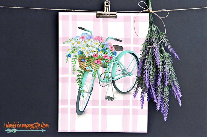 Floral Bicycle Printable