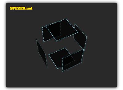 Animasi Cubes 3D menggunakan CSS keyframe