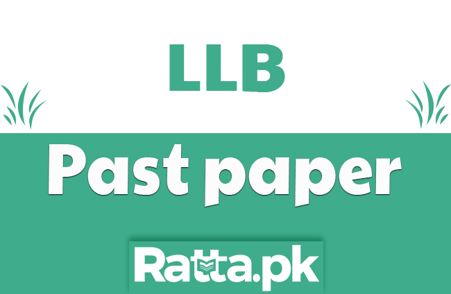 LLB part 1 Law of Contract Past paper 2019