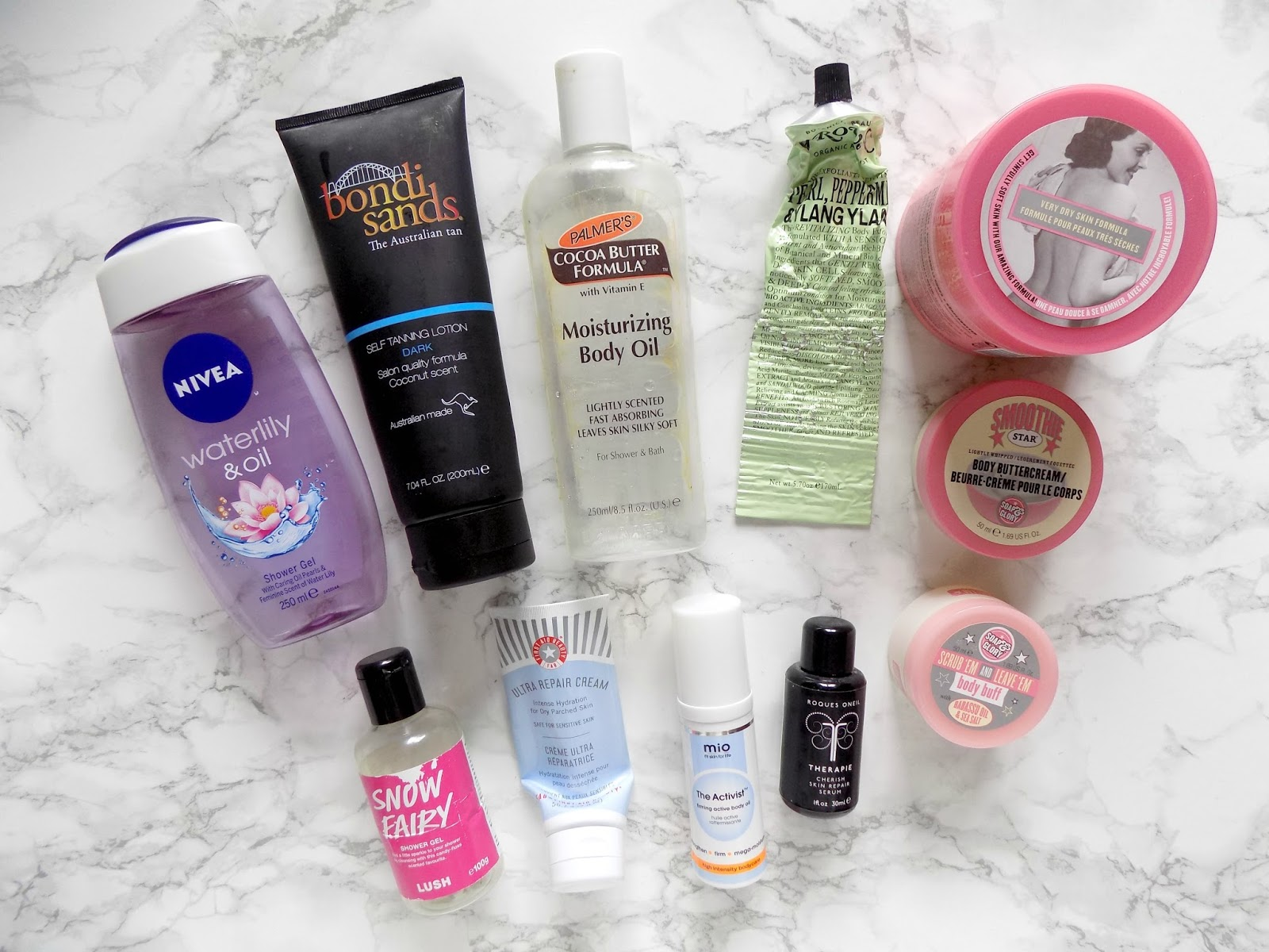danielles beauty blog body care empties nivea soapa and glory bondi sands