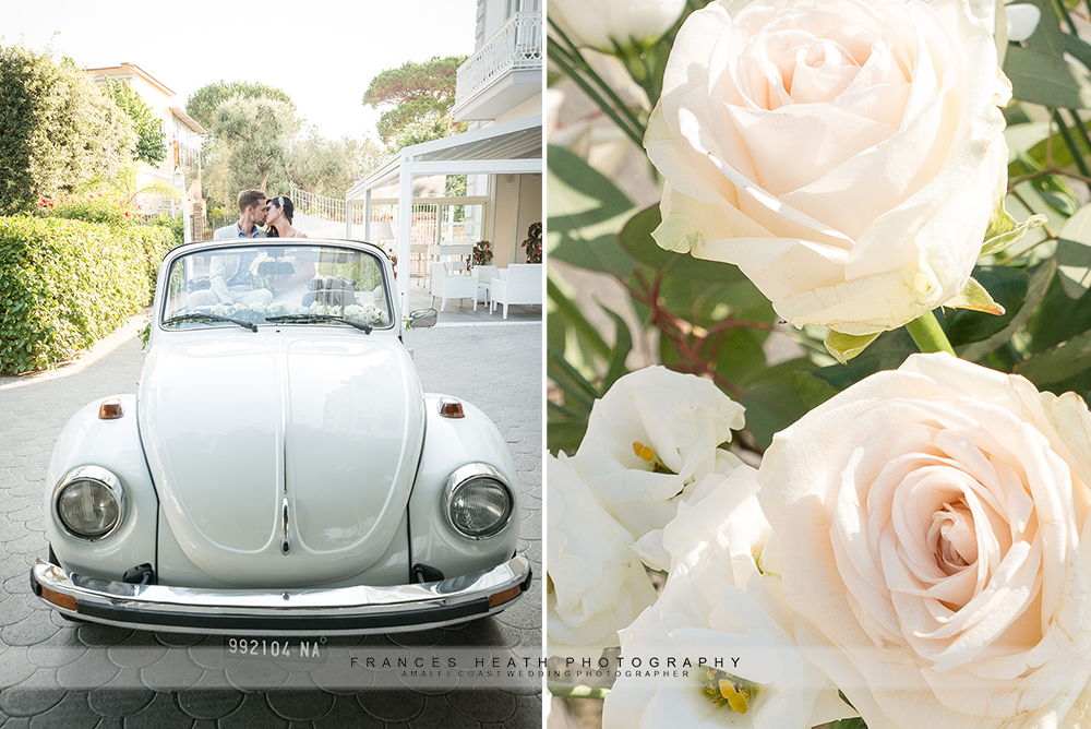 Vintage wedding car Sorrento