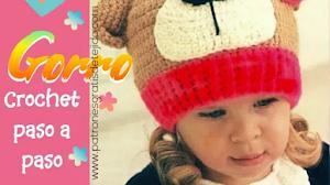 Cómo tejer un gorro para niños con diseño de oso | Paso a paso