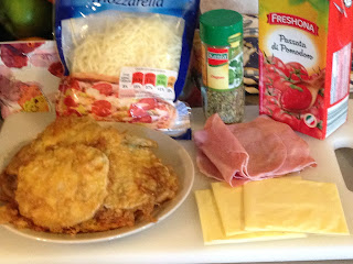 Lasagna de berenjenas, ingredientes