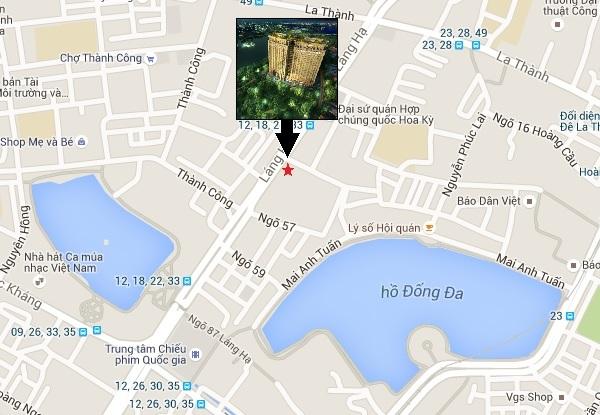 Vị trí chung cư Sun grand City Láng Hạ