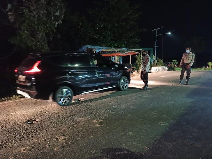 Cegah Gangguan Kamtibmas, Personel Polsek Mapsu Intensifkan Patroli Blue light
