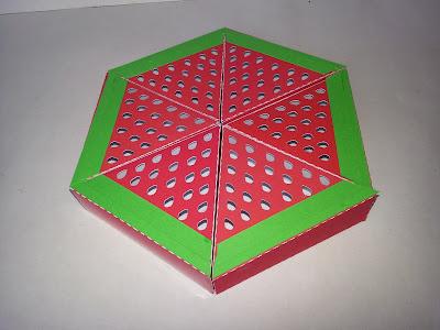 Artesanato com caixa de pizza