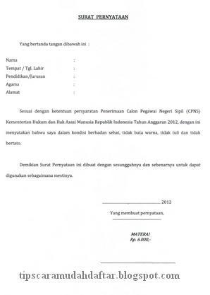 Bagaimana Cara Membuat Surat Pernyataan Perjanjian Pernyataan