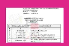 Kalender Pendidikan Provinsi Jawa Tengah Tahun Pelajaran 2019/2020