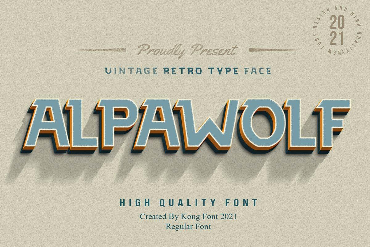 Alpawolf Font - Free Display Typeface