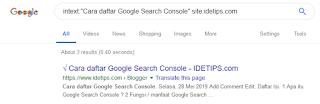 cara cek artikel sudah ada di google atau belum