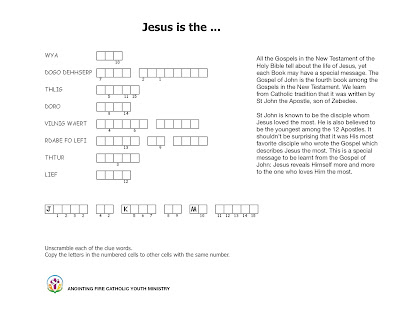 A downloadable puzzle based on the Gospel of John