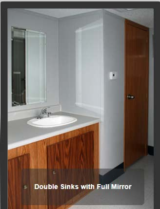 Full Mirror with Double Sinks