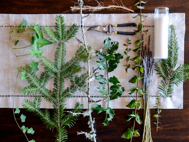 Holiday table decor made with organic lavender from Pelindaba Lavender Farm
