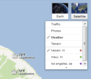 SearchReSearch: Did you know   Weather in Google Maps?