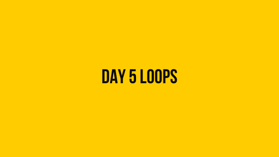 Day 5 loops hackerrank 30 days of code solution