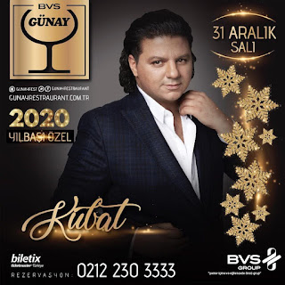 Günay Ankara Yılbaşı Programı 2020 Menüsü Kubat Yılbaşı Konseri Programı