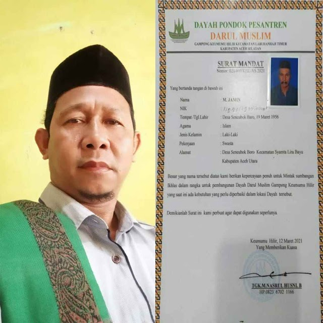 Pimpinan Pesantren Darul Muslim Angkat Bicara, Terkait Penangkapan Empat Gepeng Di Meulaboh