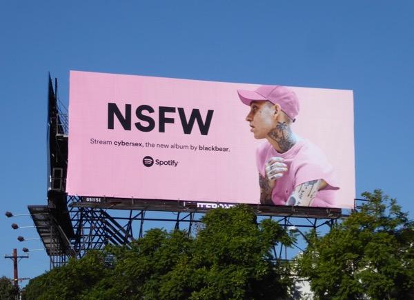 NSFW Blackbear Cybersex Spotify billboard