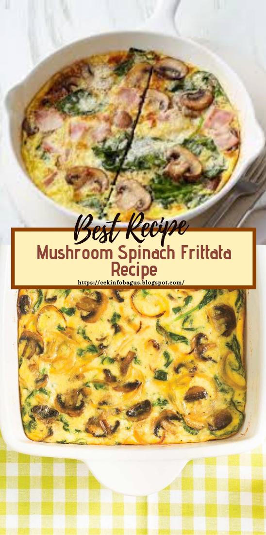 Mushroom Spinach Frittata Recipe #vegan #vegetarian #soup #breakfast #lunch