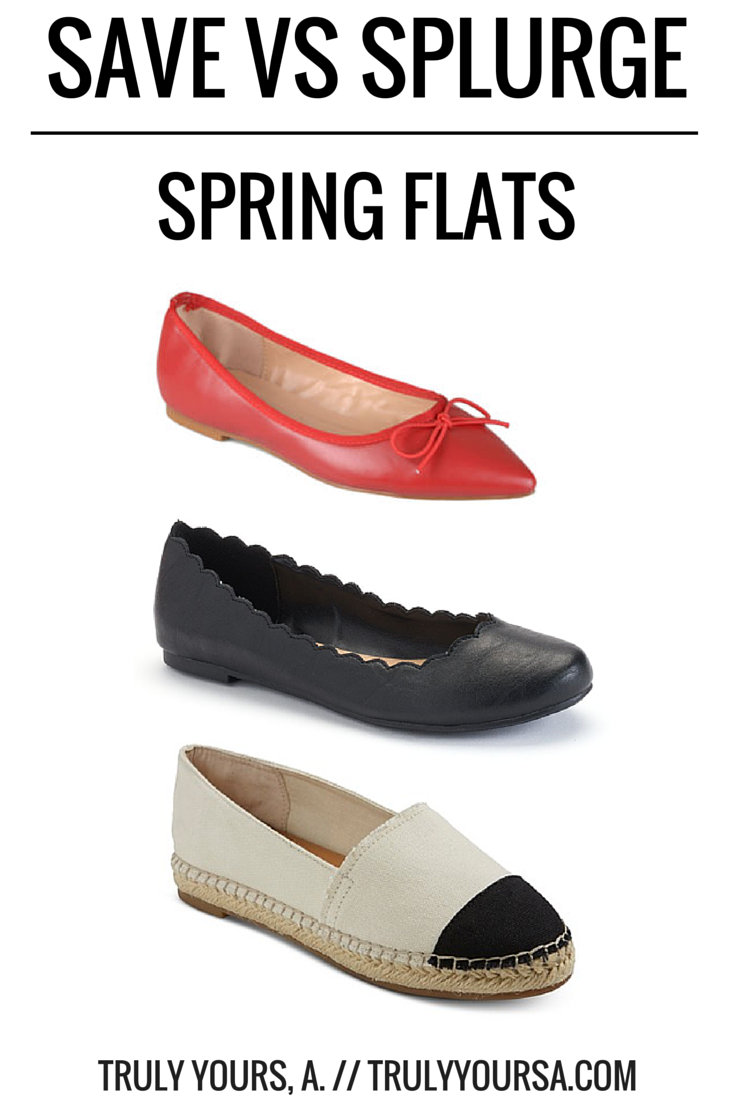 A fashion comparison post featuring flats perfect for Spring by J. Crew, Lauren Conrad, Chloé, Tory Burch, Merona, and Journee.