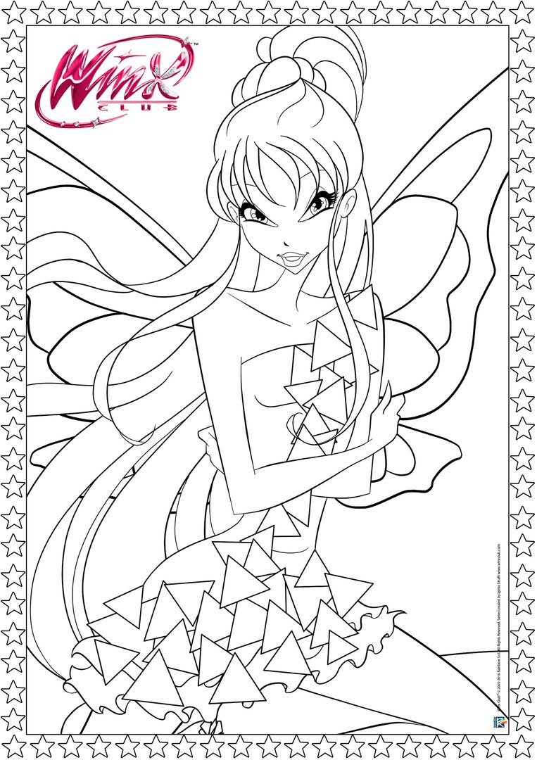 winx club tynix coloring pages - photo#9