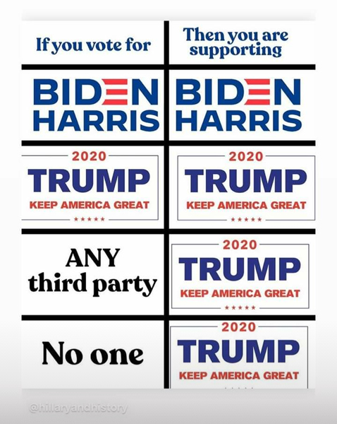 To my fellow Americans: Vote for Biden/Harris 2020!