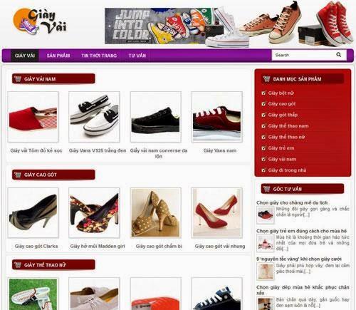 dịch vụ thiết kế website bán hàng giầy thể thao