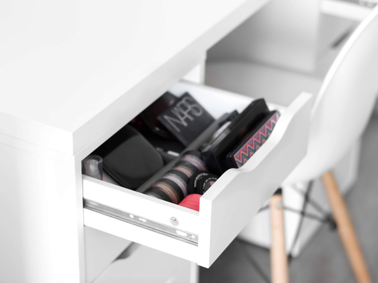 skladování kosmetiky a spotřebovaná kosmetika