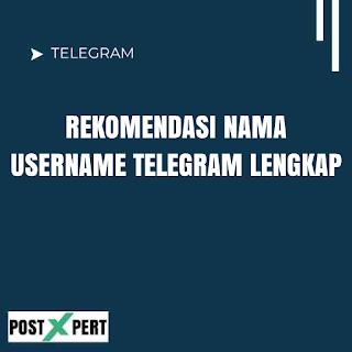 Nama Username Telegram Aesthetic, Keren dan yang bagus buat RP