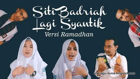 Lagu Parodi Lagi Syantik Versi Ramadhan Lirik