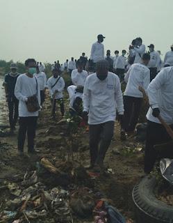 Disaksikan Fahira Idris, OP Priok Kolaborasi Tanam Pohon Bakau dan Berdayakan Masyarakat di Marunda