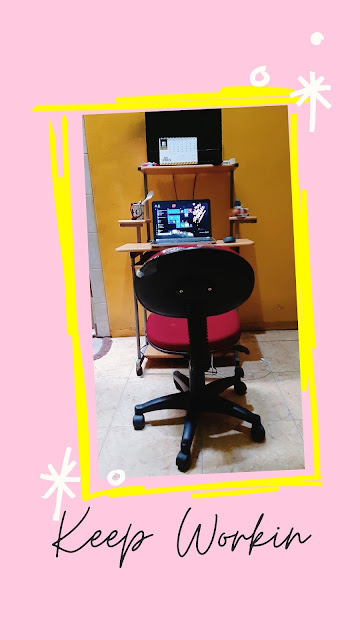 ruang kerja di rumah, komputer