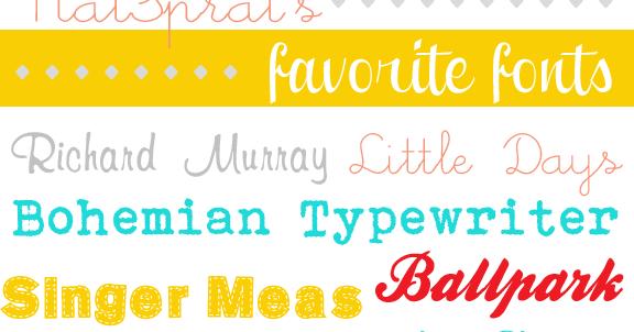 NatSprat: NatSprat's {Favorite} Free Fonts