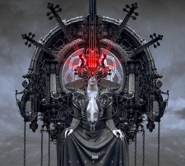Nekro artstation ilustrações foto-manipulações photoshop góticas fantasia surreal terror sombrio macabro
