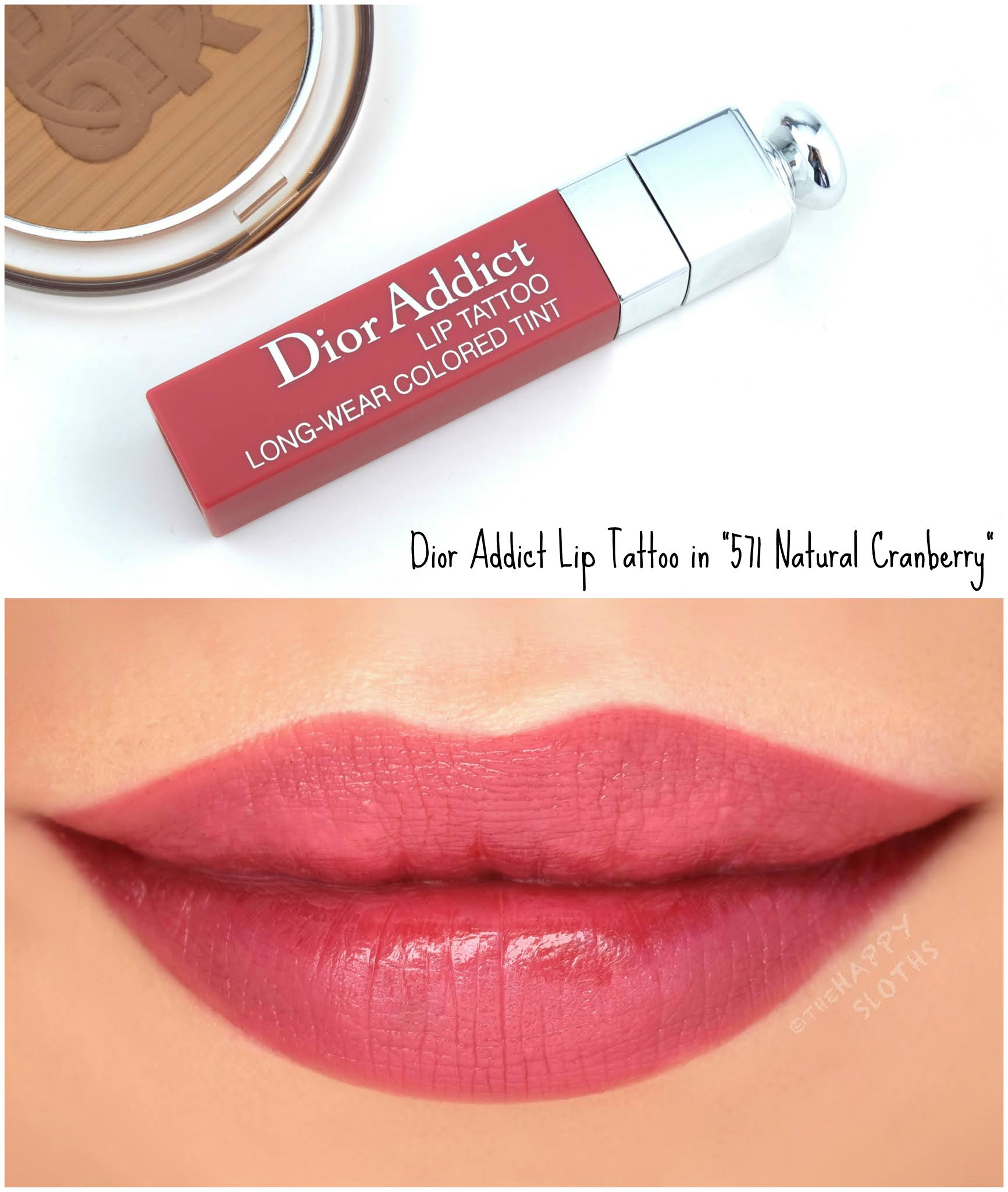 "Dior Summer 2020 | Dior Addict Lip Tattoo in ""571 Natural Cranberry"": Review and Swatches"