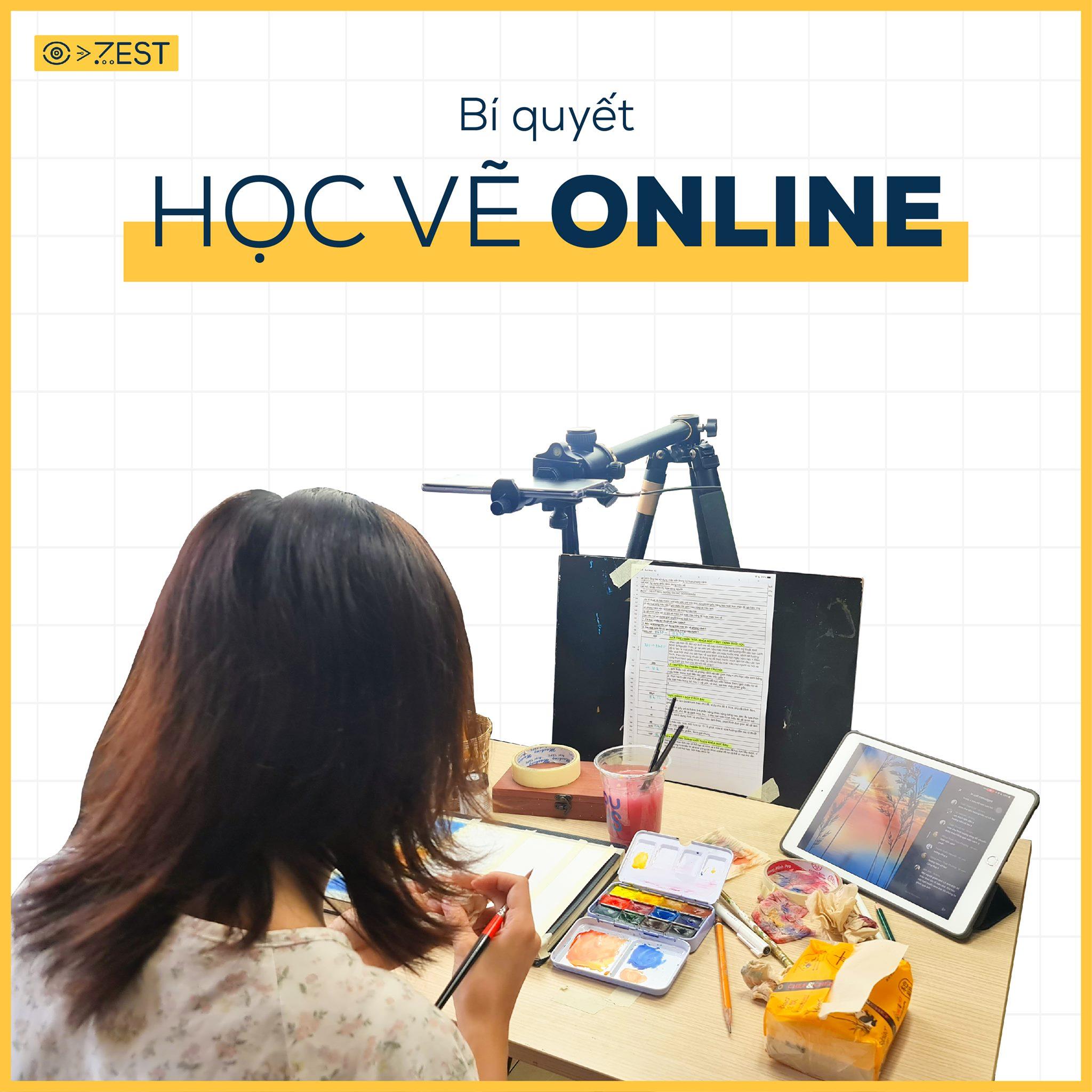 bí quyết học vẽ online cho bạn luyện thi đại học