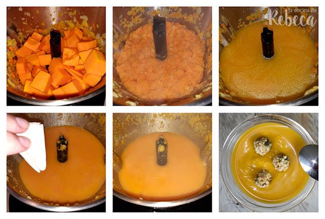 Pumpkin and carrot curry cream recipe 02
