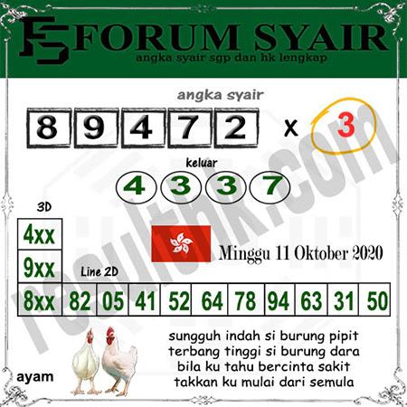 Forum Syair HK Minggu 11 Oktober 2020