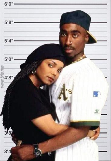 Tupac Shakur with Janet Jackson