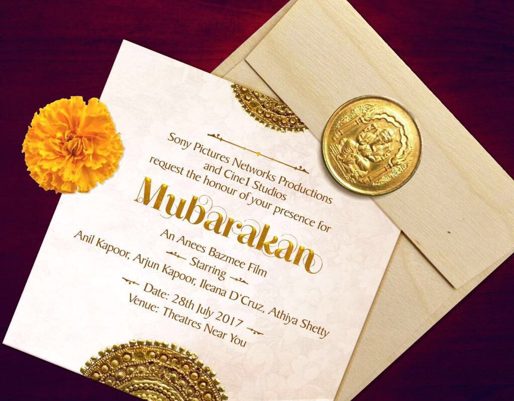 Anil Kapoor, Arjun Kapoor and Ileana D Cruz, athiya shetty New Upcoming movie Mubarakan poster, release date 2017