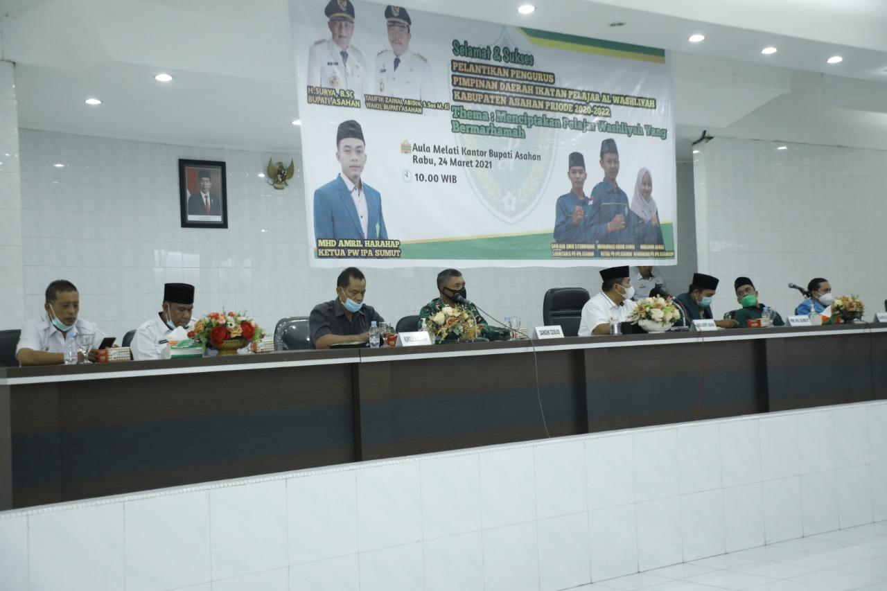 Wakil Bupati Asahan Hadiri Pelantikan Pengurus Ikatan Pelajar Al Washliyah Kabupaten Asahan Periode 2020-2022