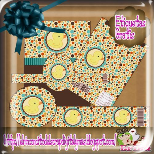 Magic Crafts: = Etiquetas Para Baby Shower De Patitos