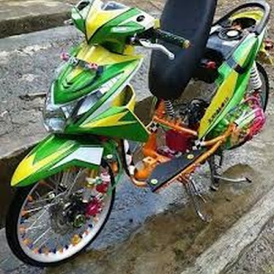 Modifikasi Beat FI 2015 Airbrush Hijau