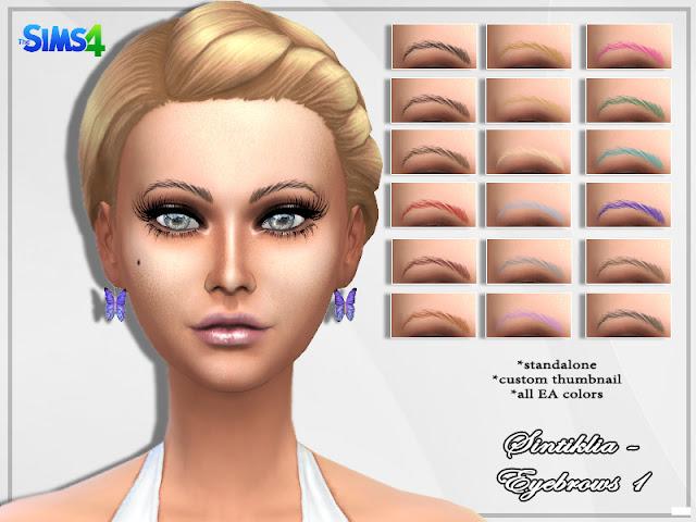 брови для The Sims 4, The Sims 4, брови разные для Sims 4, брови для Sims 4, лицо для Sims 4, моды для Sims 4,для лица, брови цветные,  женское для Sims 4, мужское для Sims 4, внешность для Sims 4, Sims 4,