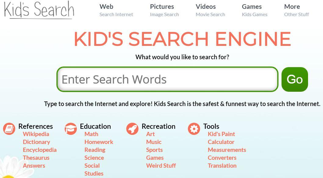 محركات بحث للاطفال