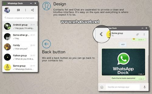 WhatsApp Dock gratis para Google Chrome