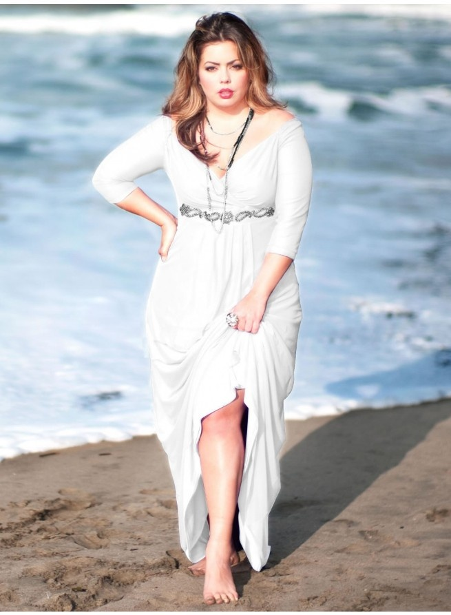 Vestido Blanco Ibicenco Talla Grande