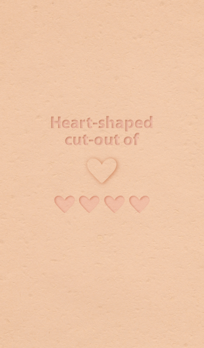 Heart-shaped cut-out of