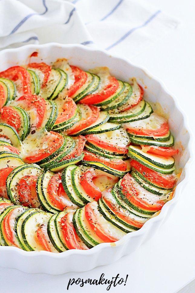 Fit tarta z cukinią, pomidorami i mozzarellą bez spodu!