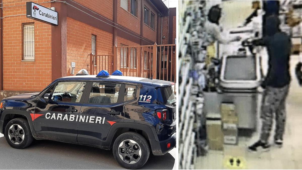 Carabinieri Grammichele baby rapinatore